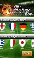 Screenshot of Air Hockey World Cup 2014