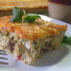 V's Simple Savory Mexican Quiche