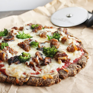 Low Carb Flax & Parmesan Pizza Crust (Gluten Free)