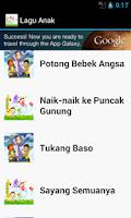 Screenshot of Lagu Anak Terpopuler