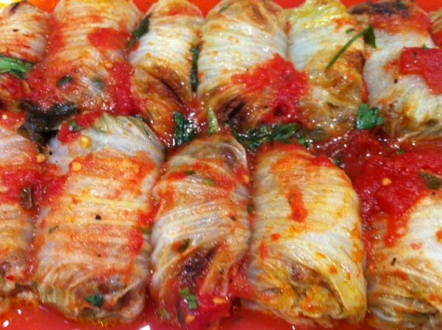 Sweet and Sour Braised Pork Stuffed Napa Cabbage Rolls Recipe | Yummly