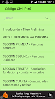 Screenshot of Código Civil Perú
