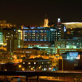Syracuse Carrier Dome by Barb Perkins Duncan - City,  Street & Park  Skylines (  )