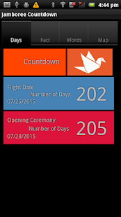 World Scout Jamboree Countdown - screenshot