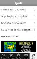 Screenshot of Dicionário Michaelis Português