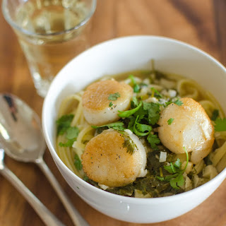 Scallops with Lime & Cilantro