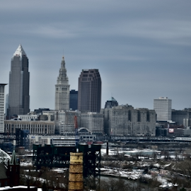 Cleveland by Tim Hauser - City,  Street & Park  Skylines ( skyline, ohio, art, fine art photography, fine art, cleveland skyline, cleveland )