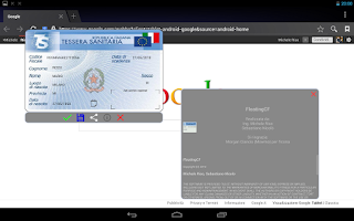 Screenshot of Codice Fiscale Floating CF