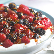Ginger Yogurt with Berries and Crunchy Caramel
