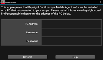 Screenshot of Keysight Oscilloscope Mobile