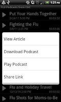 Screenshot of Flu News