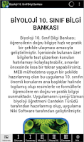 Screenshot of Biyoloji 10.Sınıf Bilgi Bank.