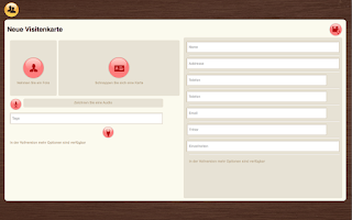 Screenshot of VCard-In
