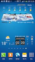 Screenshot of 기상청날씨, 오픈웨더(Weather)날씨.미세먼지 위젯