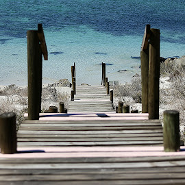 Wooden Steps by Coena le Roux - Landscapes Beaches (  )