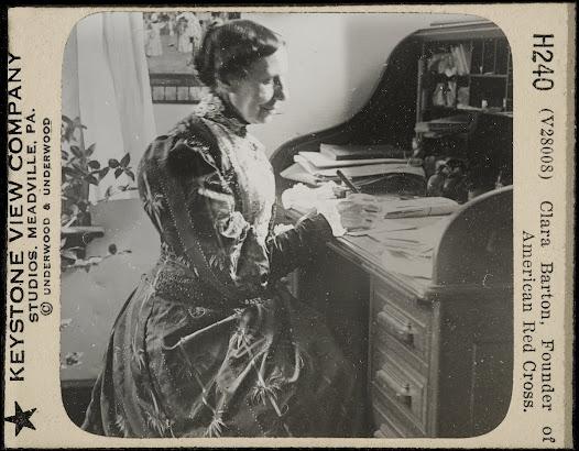 Clara Barton (December 25, 1821 – April 12, 1912)