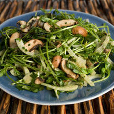 Herbed Pea Sprout, Fennel, and Mushroom Salad Recipe