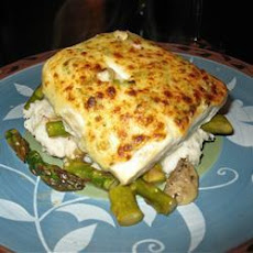 Grilled Halibut with Parmesan