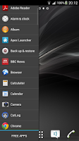 Screenshot of Ray Sidebar Launcher