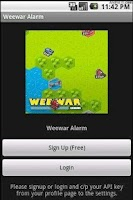 Screenshot of Weewar Alarm