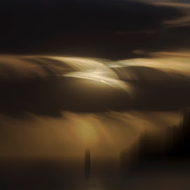 Moonrise over Mercury Bay by Rick Lussi - Digital Art Places ( long exposure, whitianga, new zealand, moonrise )