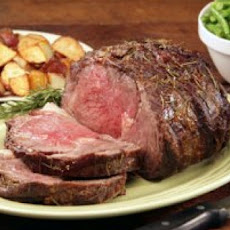 Rib Roast with Roasted-Garlic Thyme Sauce