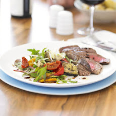 Peppered Fillet Of Beef With Grilled Artichoke Salad
