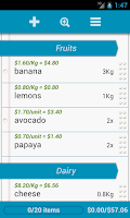 Screenshot of Grocery List - QuickGroceryPro