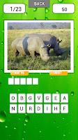 Screenshot of Animal quiz Guess word