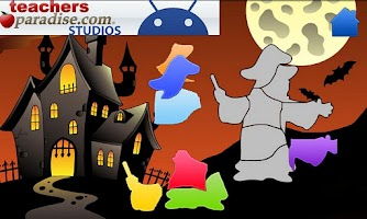Screenshot of Happy Halloween Shape Puzzles
