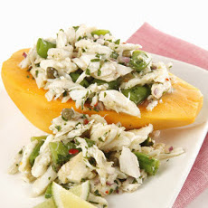 Golden Papaya and Crab Salad