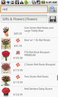 Screenshot of Flowers and Gifts Search