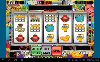 Screenshot of Mega Treasure Slot Machine