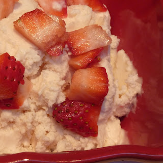 Luscious Honey Mascarpone Strawberry Ice Cream