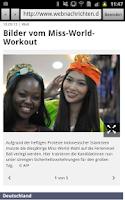 Screenshot of webnachrichten
