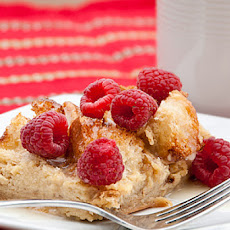 Raspberry White Chocolate Overnight French Toast with Raspberry White Chocolate Syrup