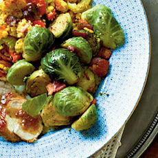 Brussels Sprouts with Applewood Bacon