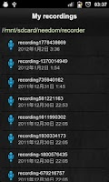Screenshot of Sound Recorder Free