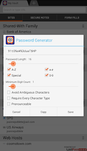 Password Manager by AOL - screenshot