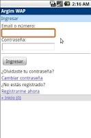 Screenshot of Argim.net Free SMS
