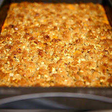 Triple Bean Cheesy Sweet Potato Casserole