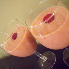 Peach Melba Tofu Smoothie