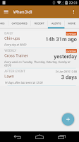 Screenshot of WhenDidI Lite - Event Logger