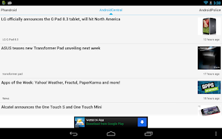 Screenshot of Android News