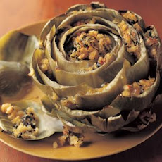 Stuffed Roasted Artichokes with Chili and Mint