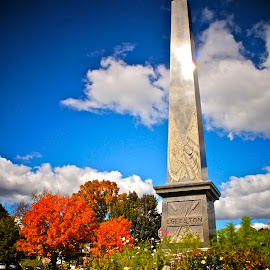 Monument in the Fall by Alexis Picheny - Buildings & Architecture Statues & Monuments ( berkshires, nature, autumn, foliage, fall, monument, massachusetts, lenox )