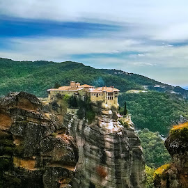 Meteora... by Dragana Vojinovic - Instagram & Mobile Android ( mountains, nature, monastery )