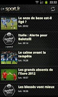 Screenshot of Euro 2012 foot
