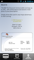 Screenshot of Discount Prescription Rx Card