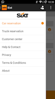 Screenshot of Sixt Rent a Car